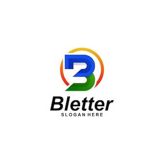 Letter b gradiënt logo-ontwerp