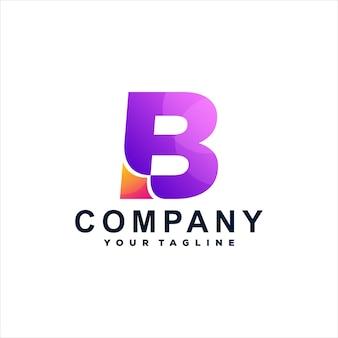 Letter b gradiënt logo ontwerp