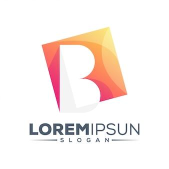 Letter b kleurrijk logo ontwerp