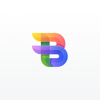 Letter b kleurrijk
