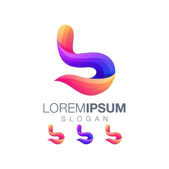 Letter b kleurverloop logo