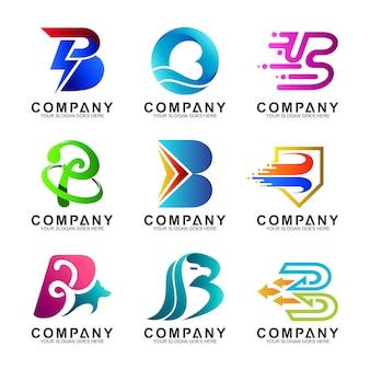 Letter b-logo ingesteld