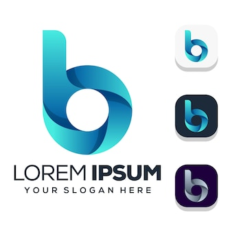 Letter b logo ontwerp
