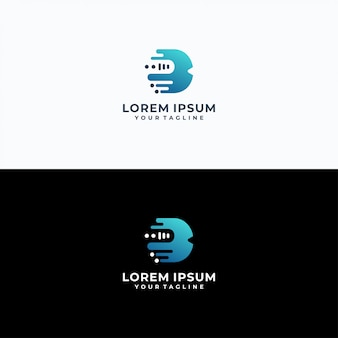 Letter b logo sjabloon