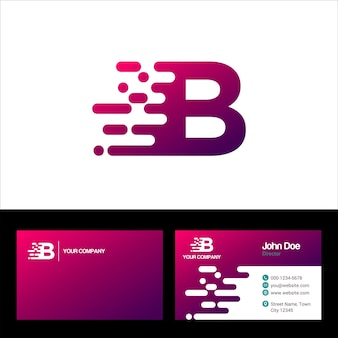 Letter b logo template, visitekaartje vector template illustratieontwerp