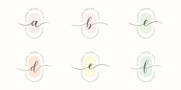 Letter b minimalistische logo-sjabloon instellen