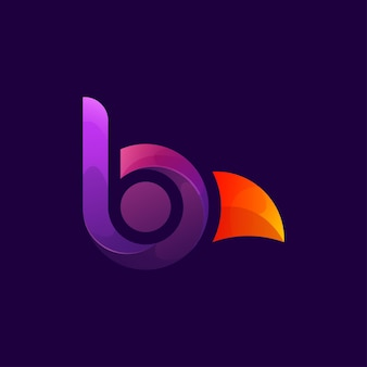 Letter b voor vogel
