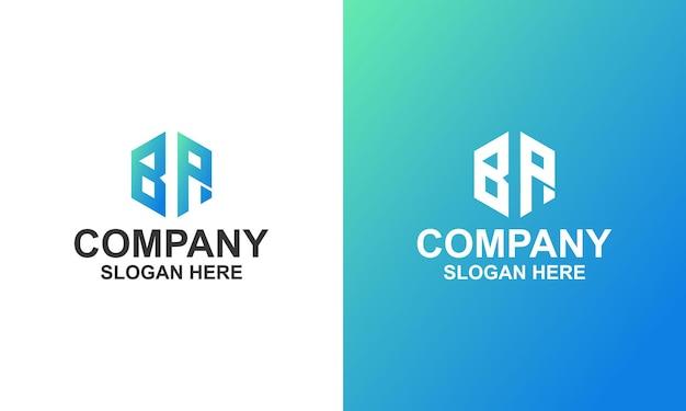 Letter bp-logo-ontwerp premium vector premium-sjabloon