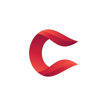 Letter c abstract logo vector