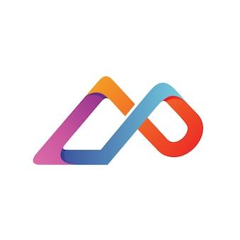 Letter c en p logo vector