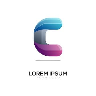Letter c kleurrijke logo ontwerpsjabloon modern