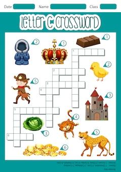 Letter c kruiswoordpuzzel