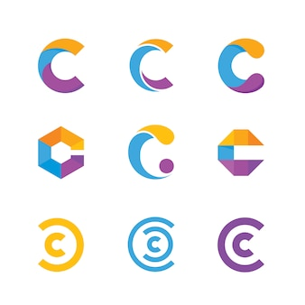 Letter c logo collectie