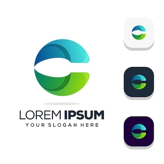 Letter c logo ontwerp