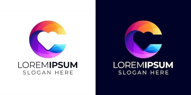 Letter c met liefde-logo