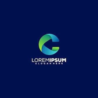 Letter c met pijl logo ontwerp