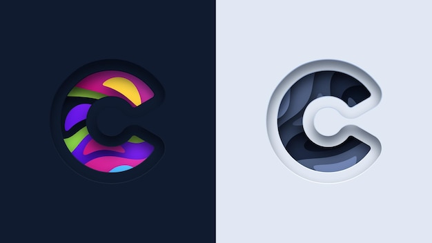 Letter c typografie logo ontwerp