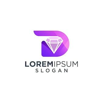 Letter d diamond-logo
