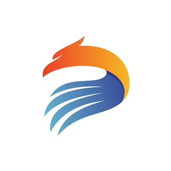 Letter d eagle logo vector