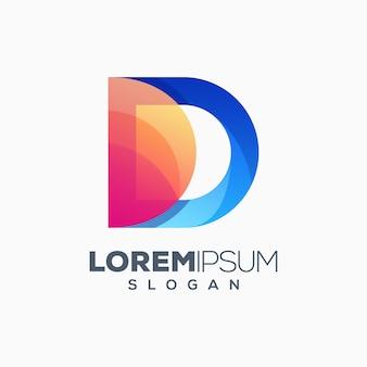 Letter d kleurrijk logo