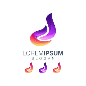 Letter d kleurverloop logo