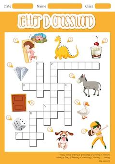 Letter d kruiswoordpuzzel