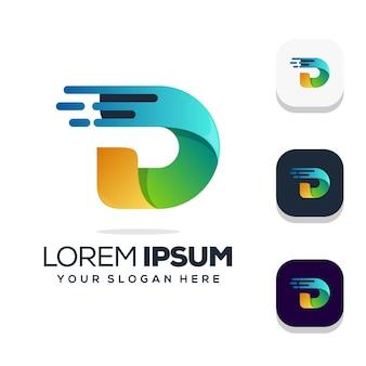 Letter d logo ontwerp