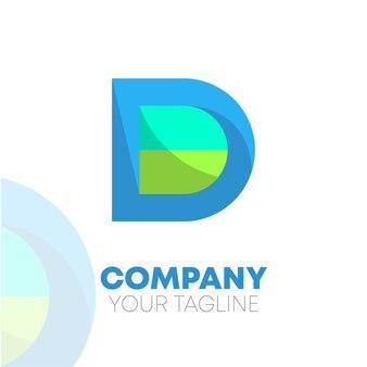 Letter d-logo-ontwerp