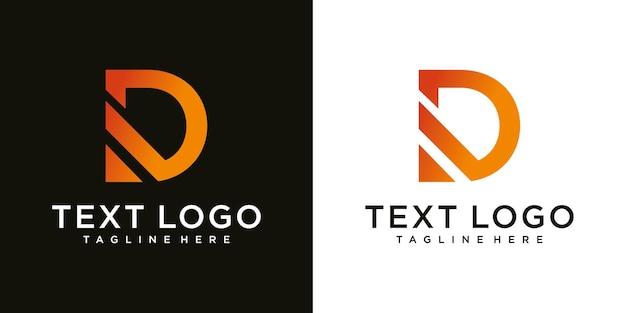 Letter d logo pictogram ontwerpsjabloon