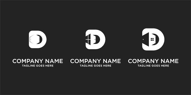 Letter d monogram venster logo ontwerp inspiratie icoon voor eenvoudige elegante luxe zaken