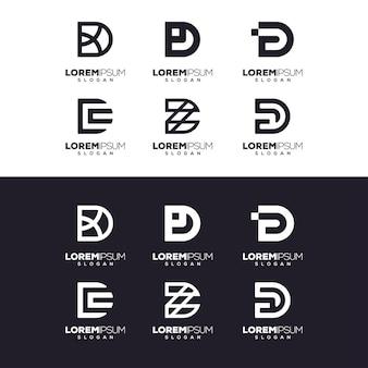 Letter d set logo