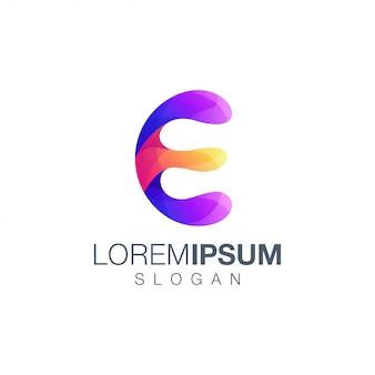 Letter e kleurverloop logo