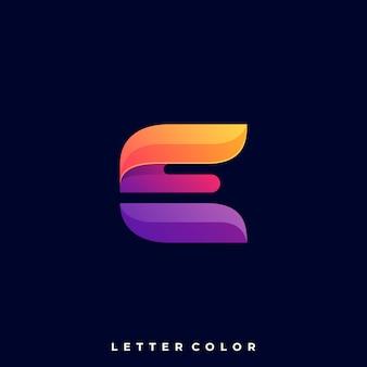 Letter e logo vector sjabloon