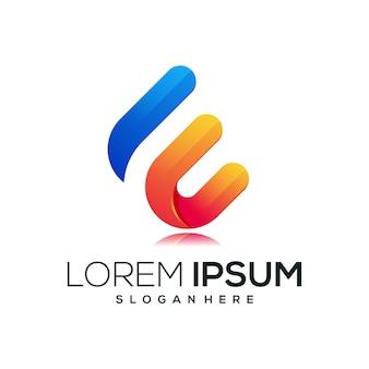 Letter e nieuw logo pictogram