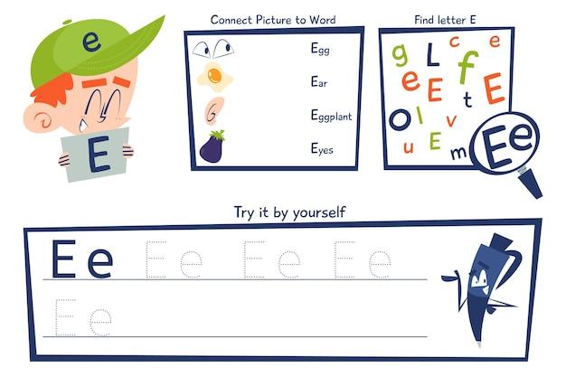 Letter e-werkbladsjabloon