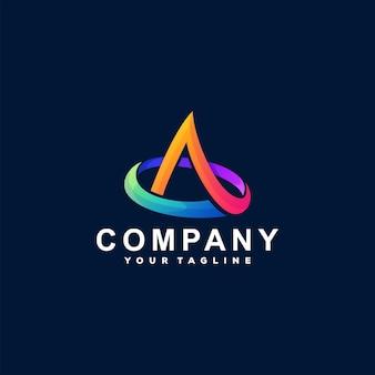 Letter een gradiënt logo-ontwerp