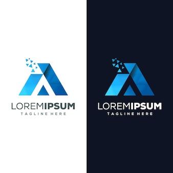 Letter een logo klaar voor gebruik