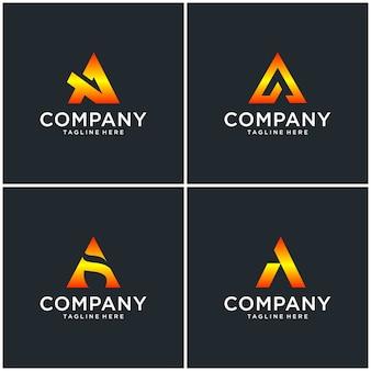 Letter een logo-ontwerp