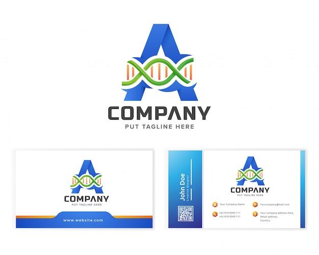 Letter eerste logo a en dna