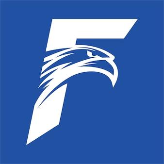 Letter f eagle head-logo