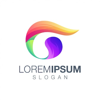 Letter g gradiëntkleur logo ontwerp