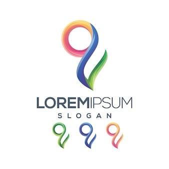 Letter g logo kleurverloop