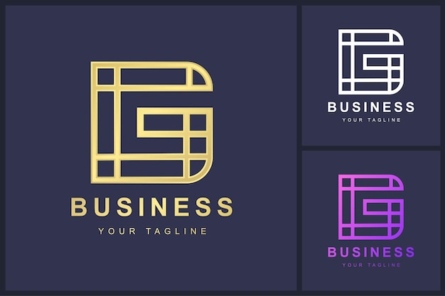 Letter g-logo met overzichtsconcept