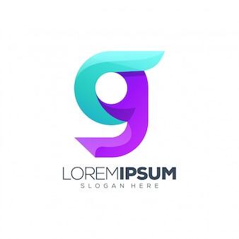 Letter g-logo ontwerp
