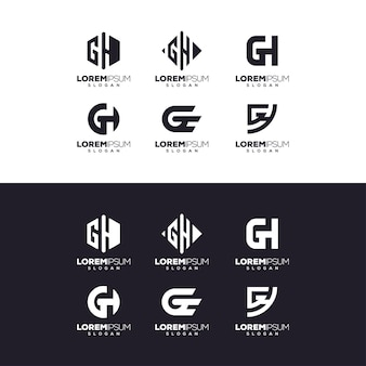 Letter gh logo ontwerp Premium Vector