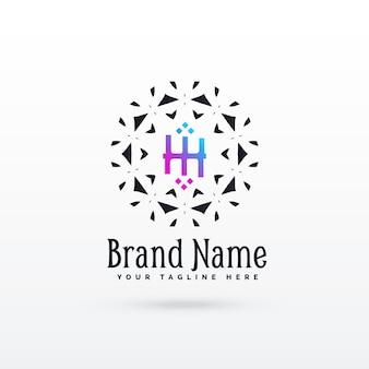 Letter h logo concept ontwerp sjabloon