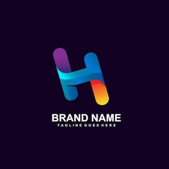 Letter h-logo ontwerp
