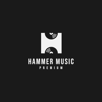 Letter h muziek logo
