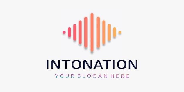 Letter i met pols. intonatie-element. logo sjabloon elektronische muziek, equalizer, winkel, dj-muziek, nachtclub, disco. audiogolf logo concept, multimedia-technologie thema, abstracte vorm.