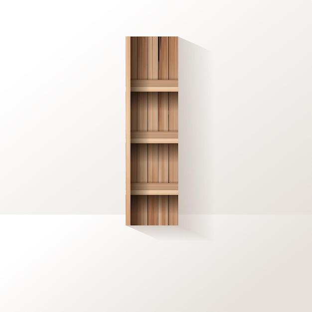 Letter i-ontwerp van houten plank